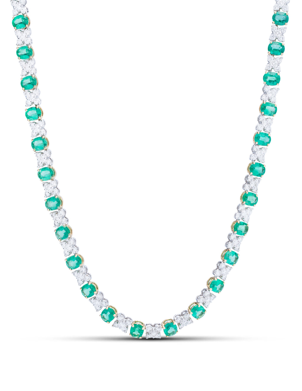 Emerald and Diamond Necklace - Charles Koll Jewellers