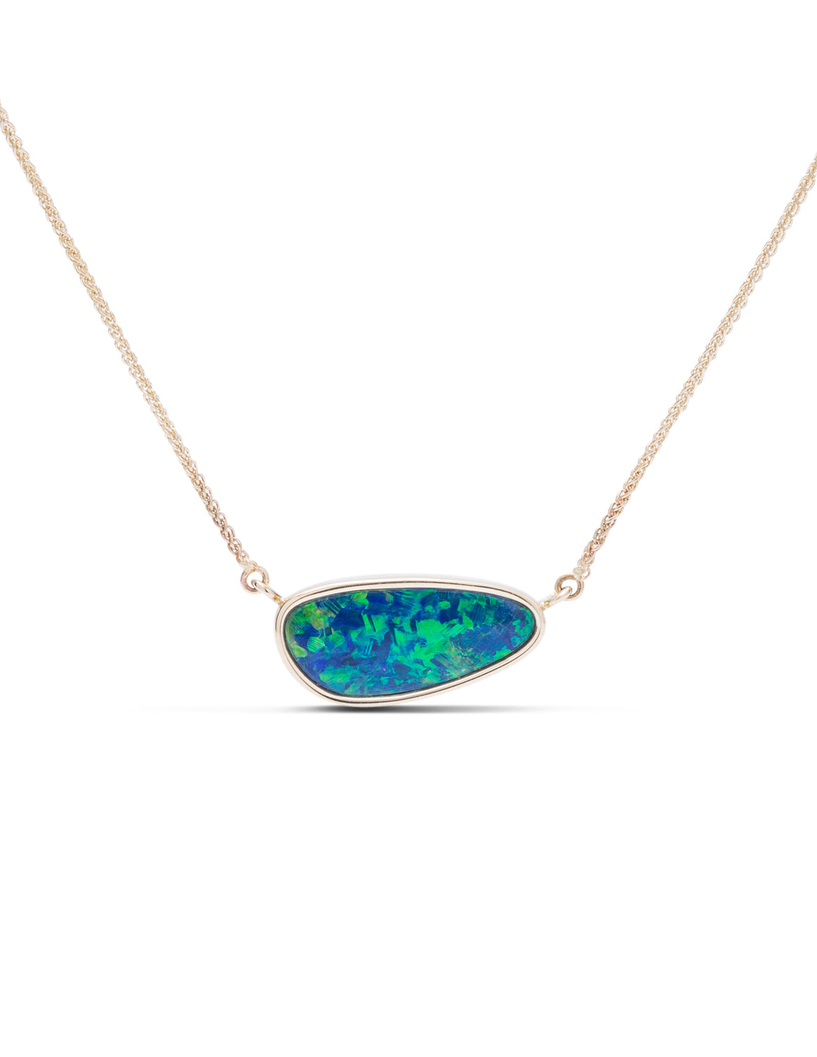 Single Bezel Set Opal Necklace - Charles Koll Jewellers