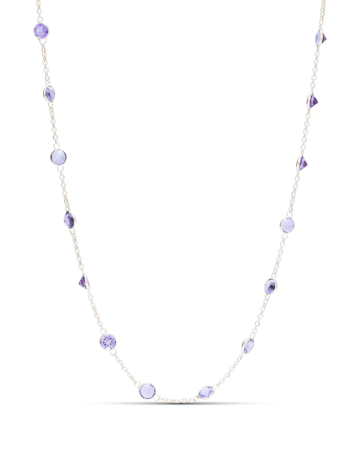 Amethyst By The Yard Necklace - Charles Koll Jewellers