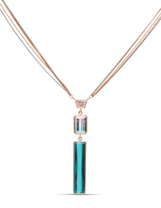 Tourmaline and Diamond Drop Pendant - Charles Koll Jewellers