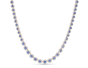Sapphire Cushion Necklace - Charles Koll Jewellers