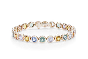 Multi-Color Bezel Set Bracelet - Charles Koll Jewellers