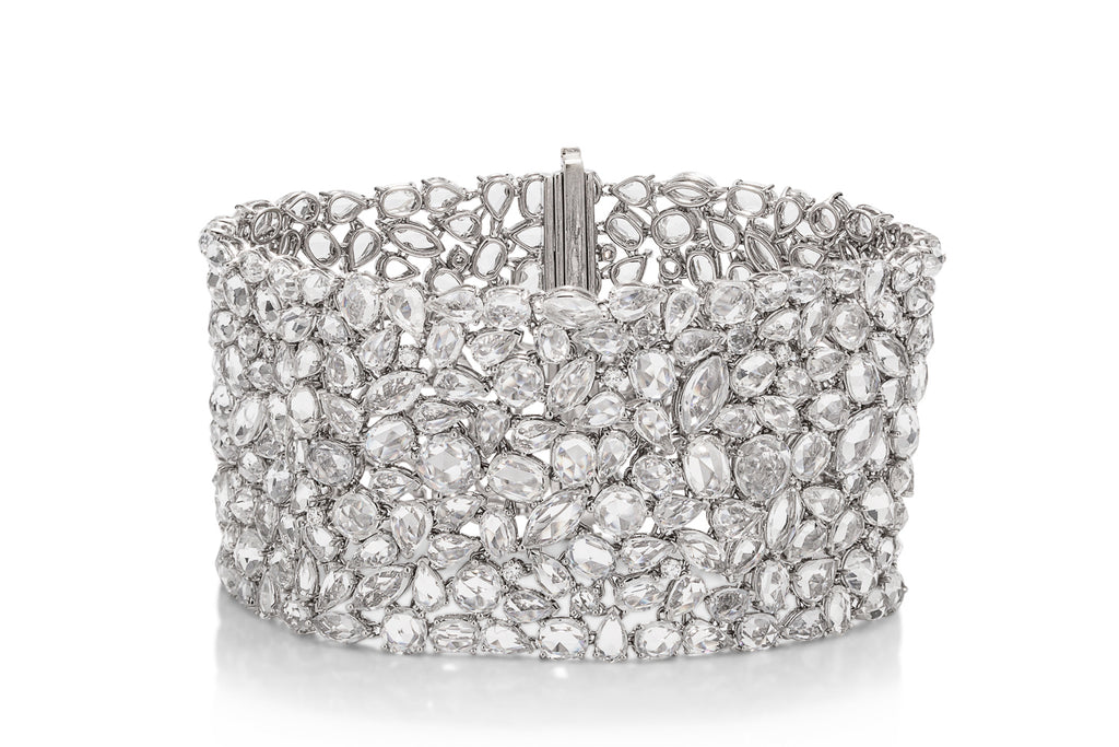 Diamond and White Sapphire Bracelet - Charles Koll Jewellers