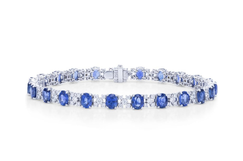 Diamond and Sapphire Bracelet - Charles Koll Jewellers