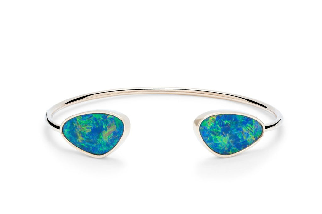 Australian Opal Bangle - Charles Koll Jewellers