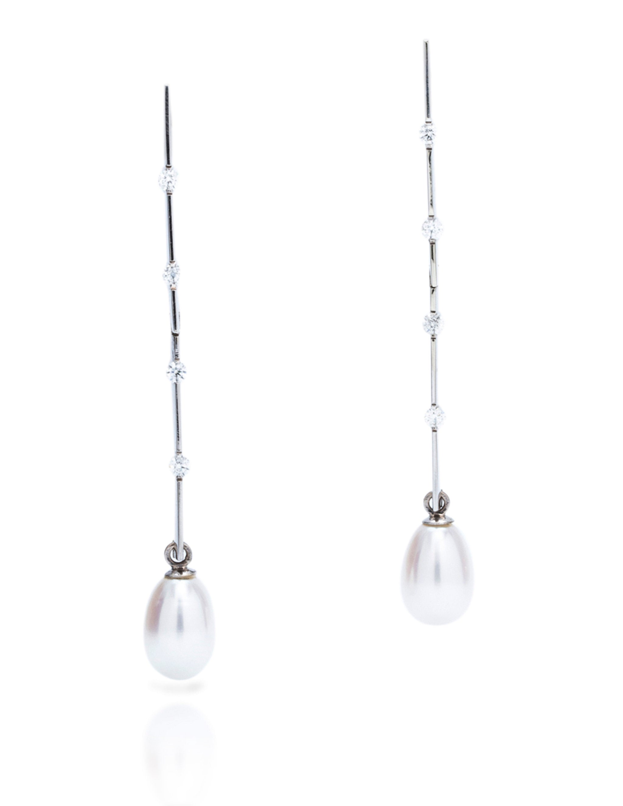 Fresh Water Pearl Drop Earrings - Charles Koll Jewellers