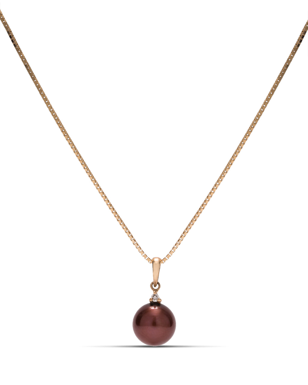 8.5mm Freshwater Pearl 14k Gold Pendant - Charles Koll Jewellers