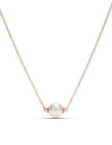 Rose Gold Pearl Necklace - Charles Koll Jewellers