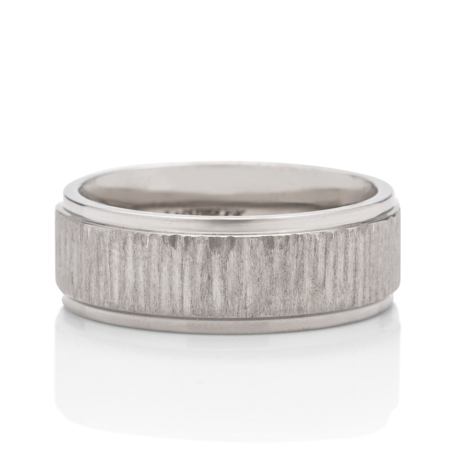 Tree Bark Finish Men's Band - Charles Koll Jewellers