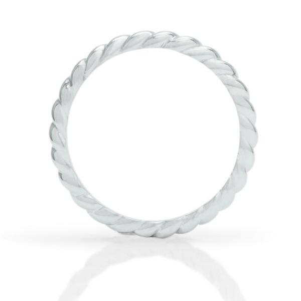Platinum Rope Ring - Charles Koll Jewellers