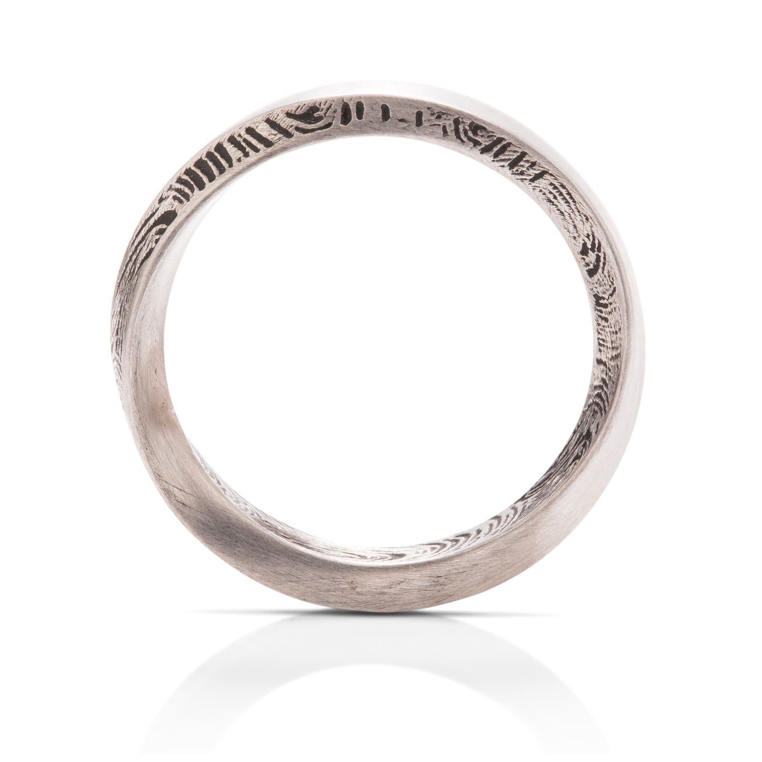 Fingerprint Mobius Ring - Charles Koll Jewellers