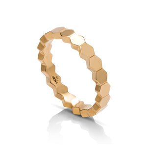 Hearts on Fire Yellow Gold Hexagonal Eternity Band - Charles Koll Jewellers