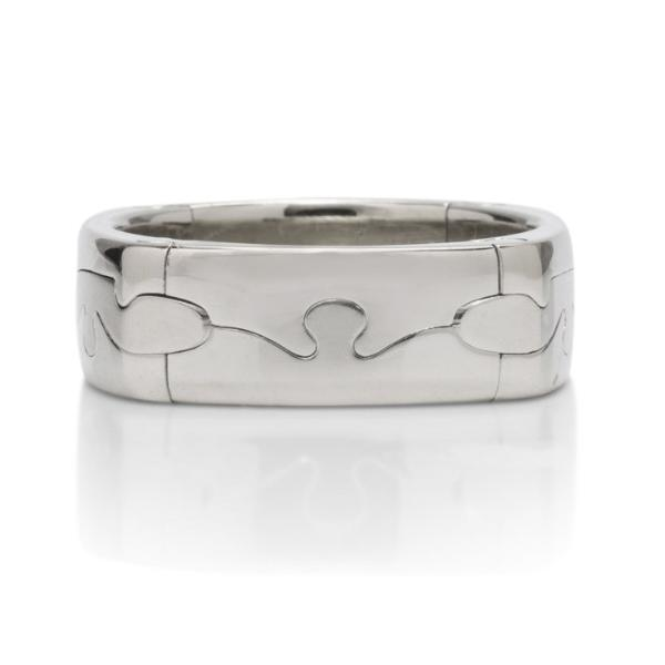 White Gold Puzzle Men's Ring - Charles Koll Jewellers