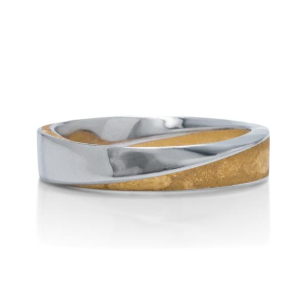 Two-Tone Signature Mobius Men's Band - Charles Koll Jewellers