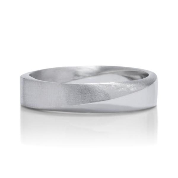 Platinum Dual Finish Signature Mobius Men's Band - Charles Koll Jewellers