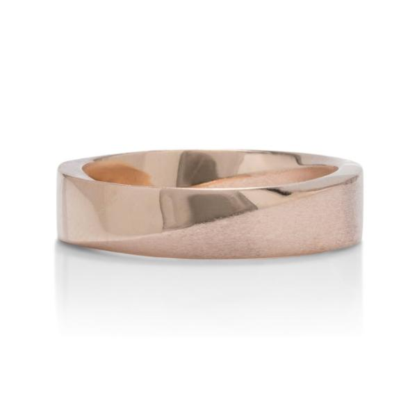 Rose Gold Signature Mobius Men's Band - Charles Koll Jewellers