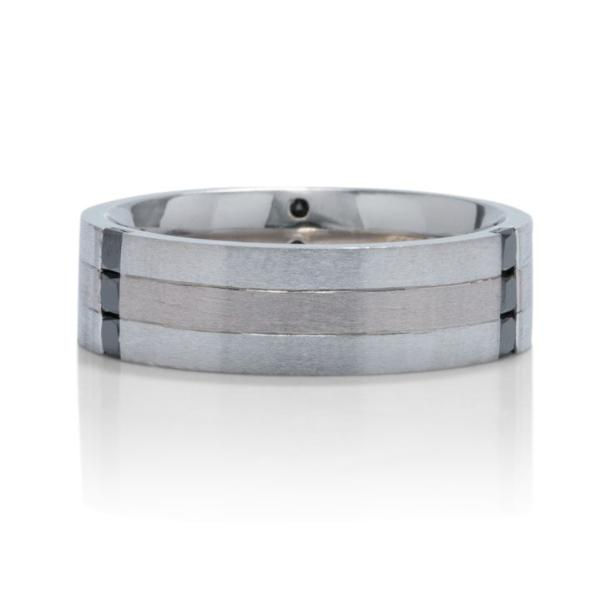 Black Diamond Two-Tone Men's Band - Charles Koll Jewellers