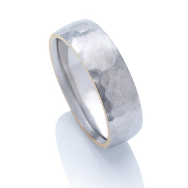 Forged Palladium with Pure Gold Inlay - Charles Koll Jewellers