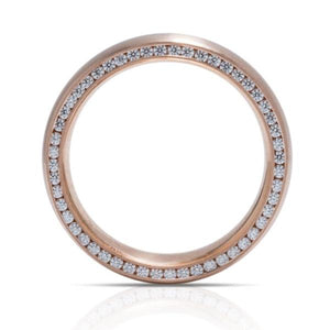 Hidden Diamond Rose Gold Men's Band - Charles Koll Jewellers