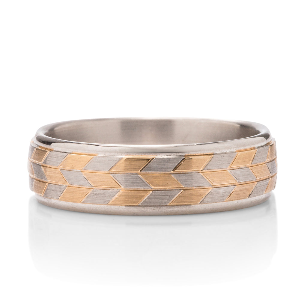 Last of Its Kind Tri-Tone Men's Band - Charles Koll Jewellers