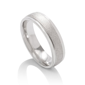 Textured Platinum Men's Band - Charles Koll Jewellers