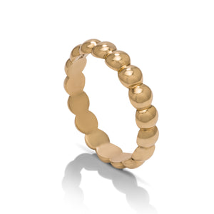 Yellow Gold Ball Band - Charles Koll Jewellers