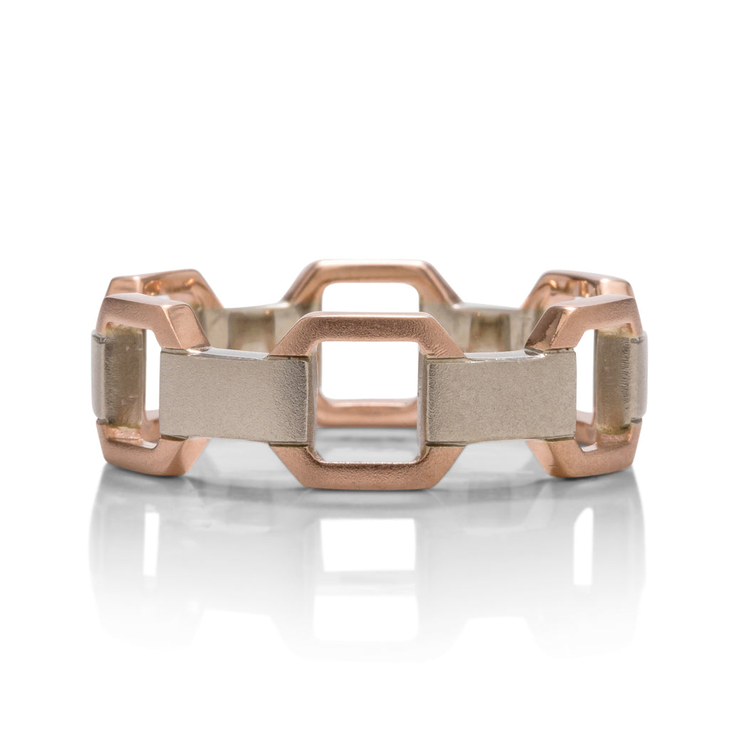 Two-Tone Geometric Men's Band - Charles Koll Jewellers
