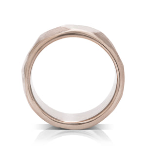 18K Grey Gold Facet Men's Band - Charles Koll Jewellers