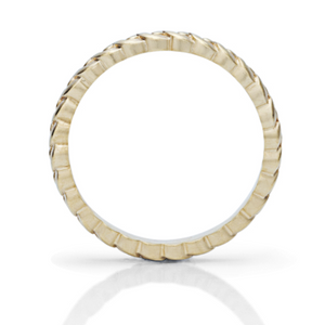 Yellow Gold Deco Stackable Ring - Charles Koll Jewellers