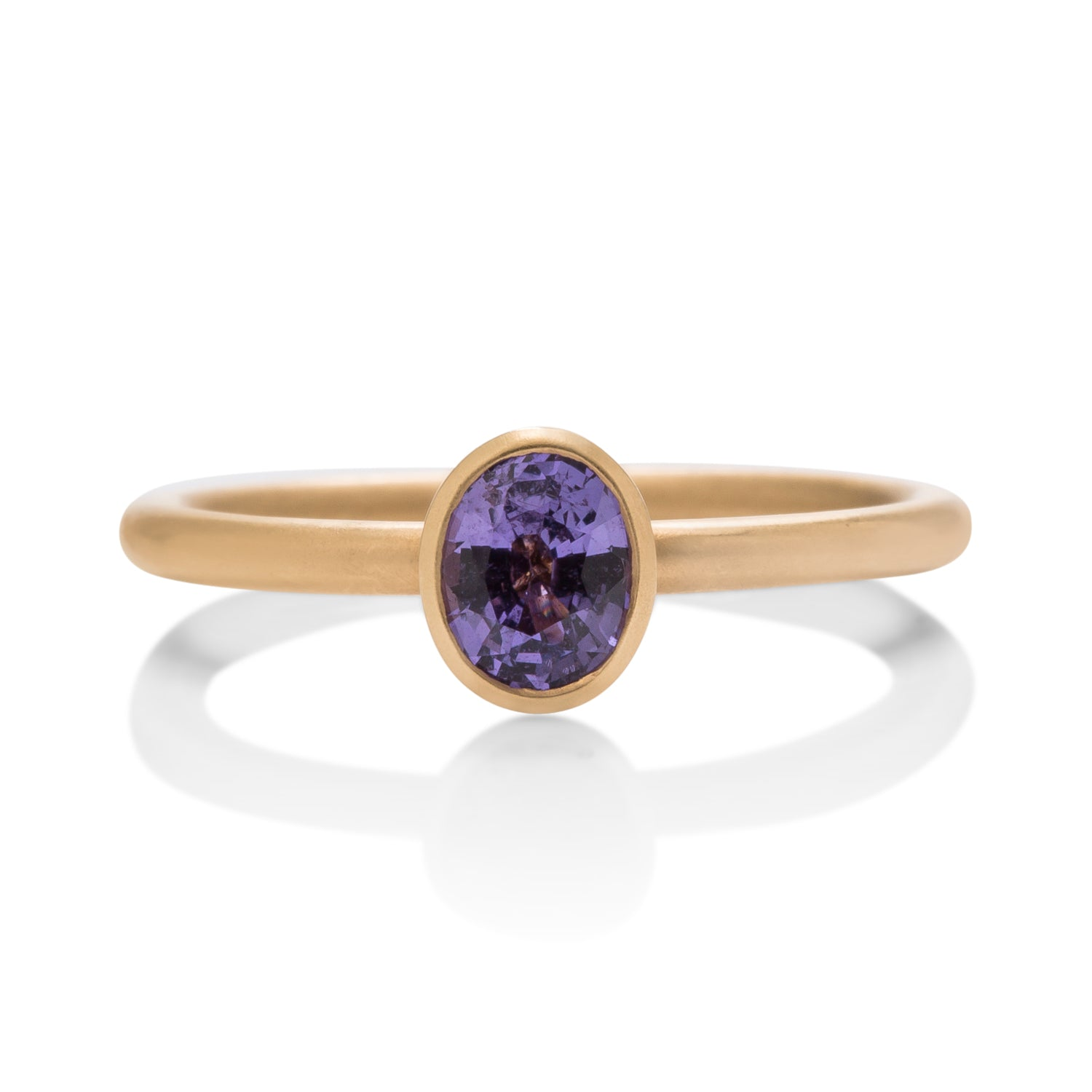 Purple Oval Sapphire Yumdrop Ring - Charles Koll Jewellers