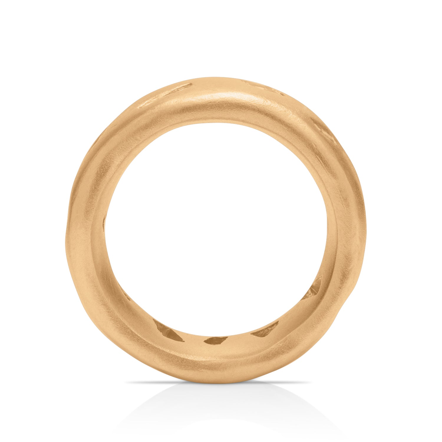 11 Diamond Recycled 18K Gold Ring