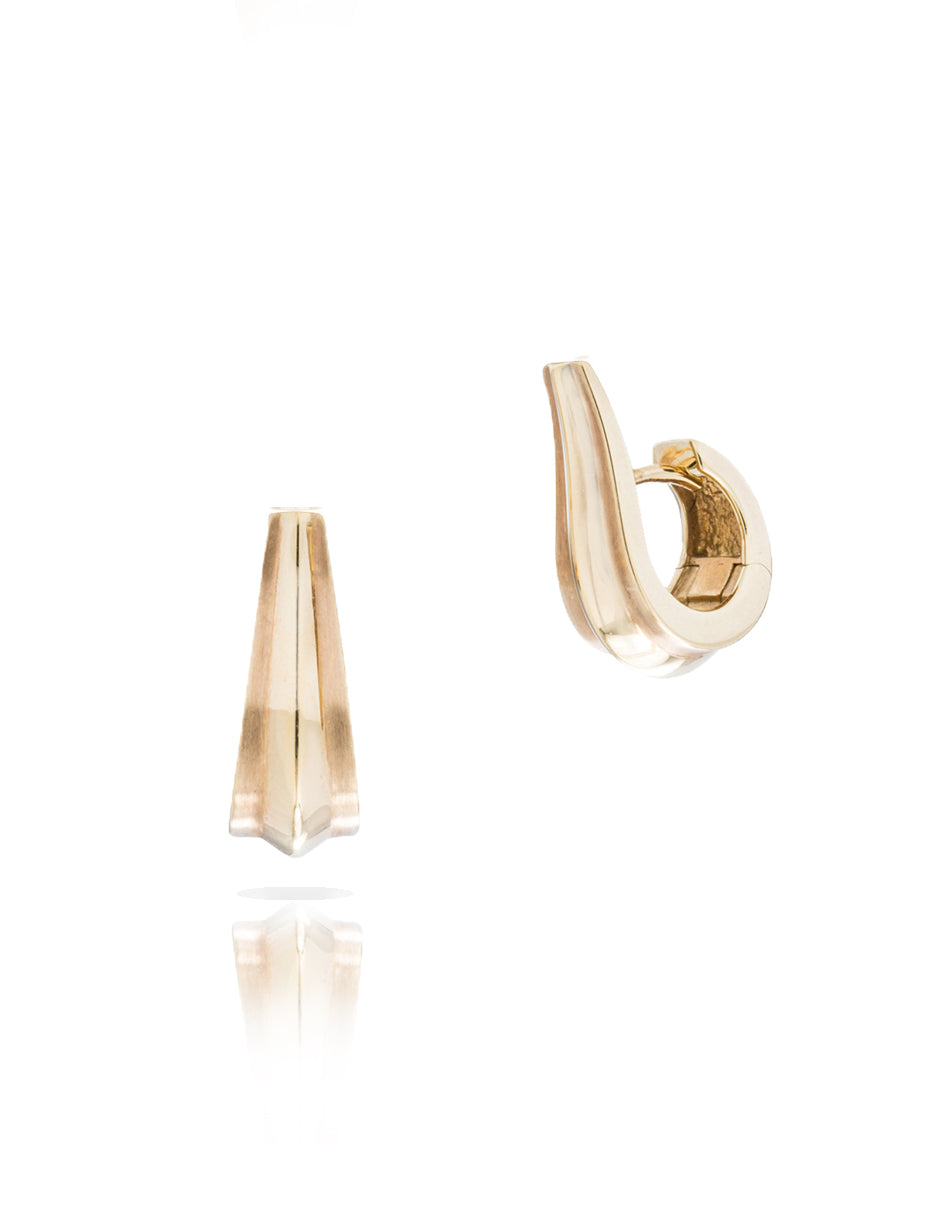 Yellow Gold Huggie Earrings - Charles Koll Jewellers