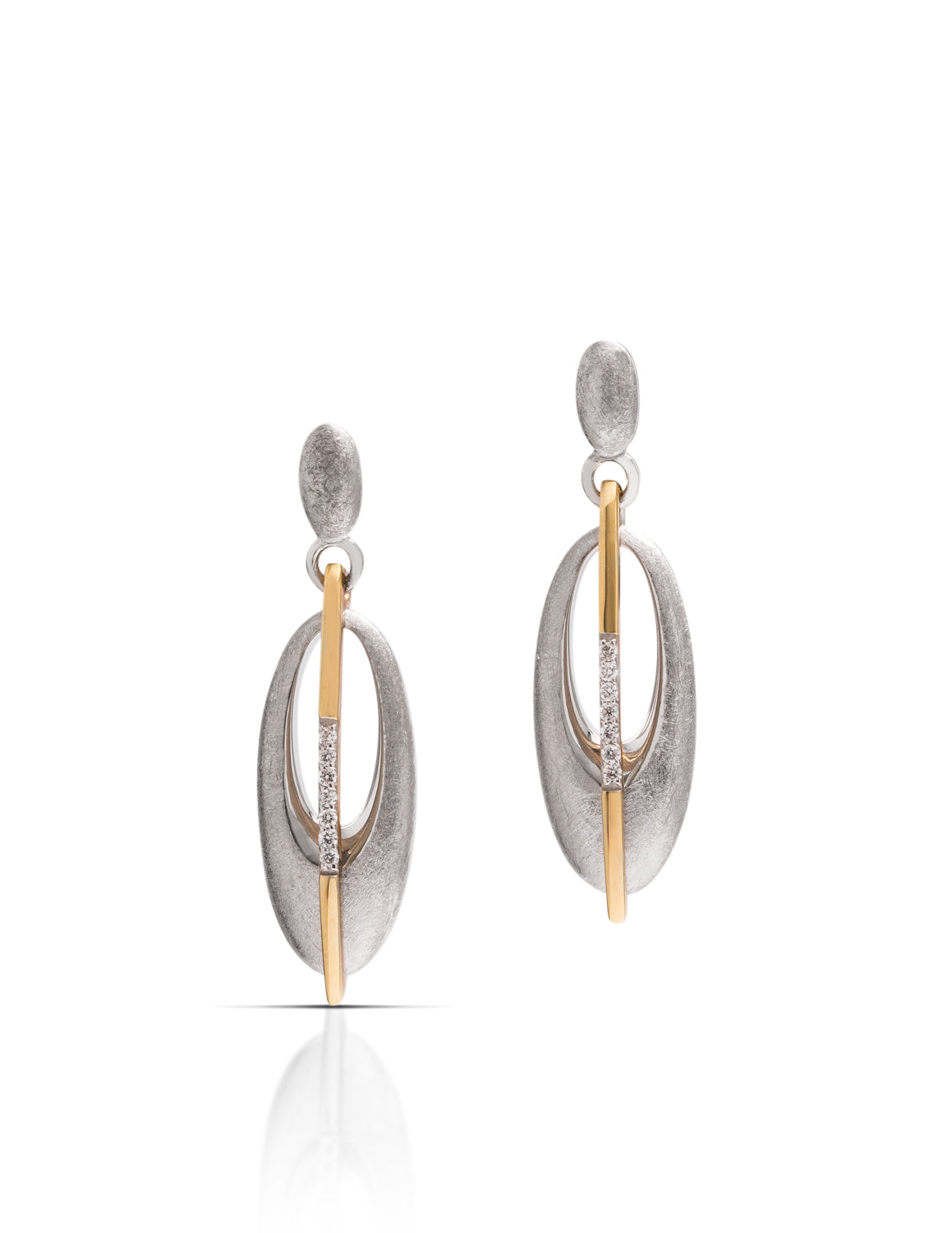 Breuning Two-Tone Earrings - Charles Koll Jewellers
