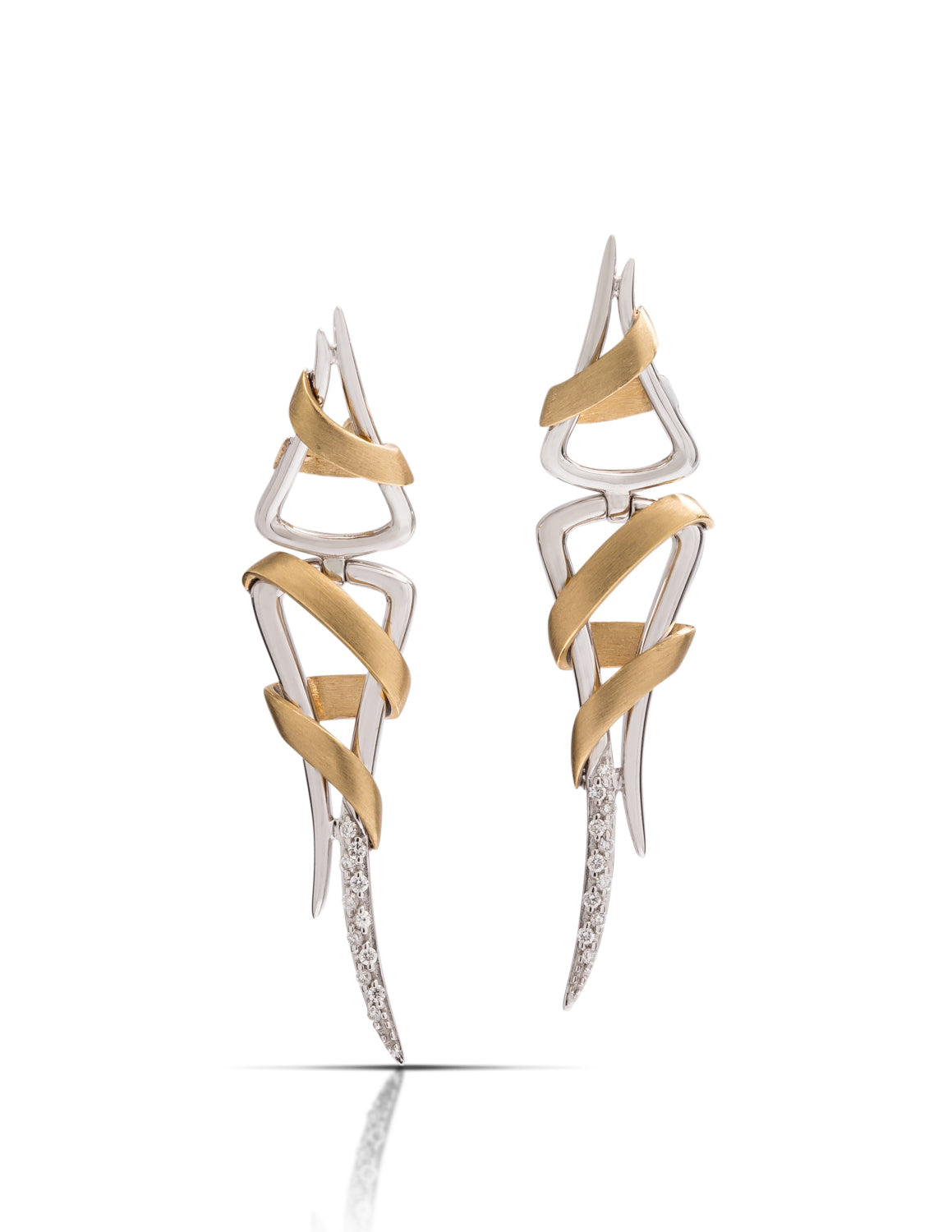 Breuning Two-Tone Ribbon Earrings - Charles Koll Jewellers