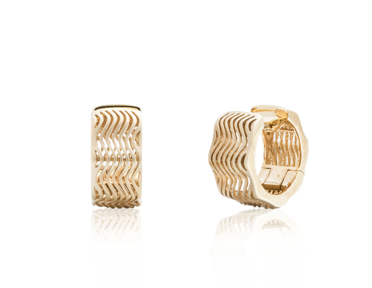 Wavy Hoop Earrings - Charles Koll Jewellers
