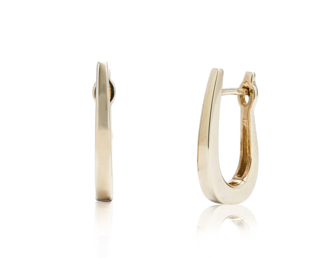 Yellow Gold Tapered Hoop - Charles Koll Jewellers