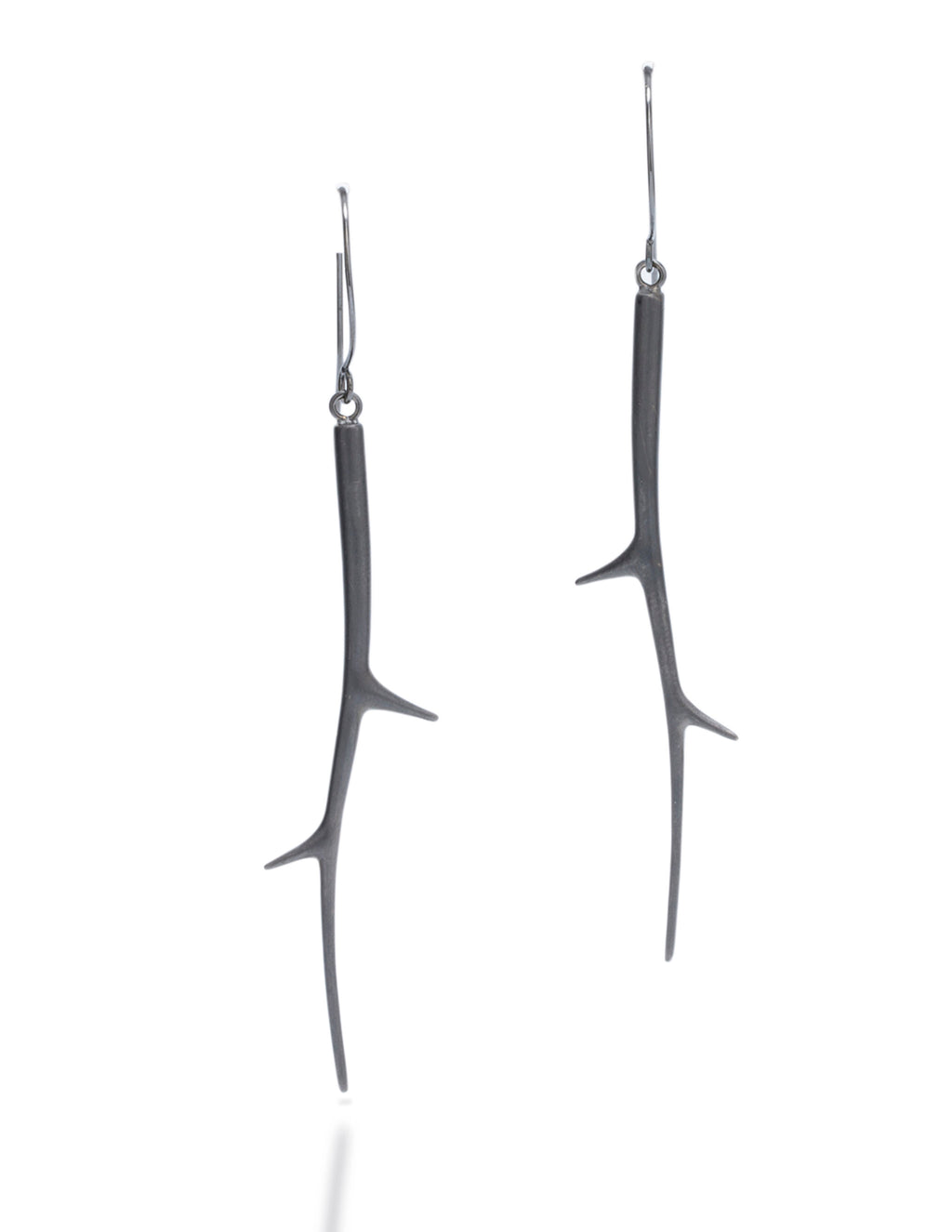 Brushed Branch Drop Earring - Charles Koll Jewellers