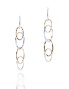 Two-Tone Oval Link Drops - Charles Koll Jewellers