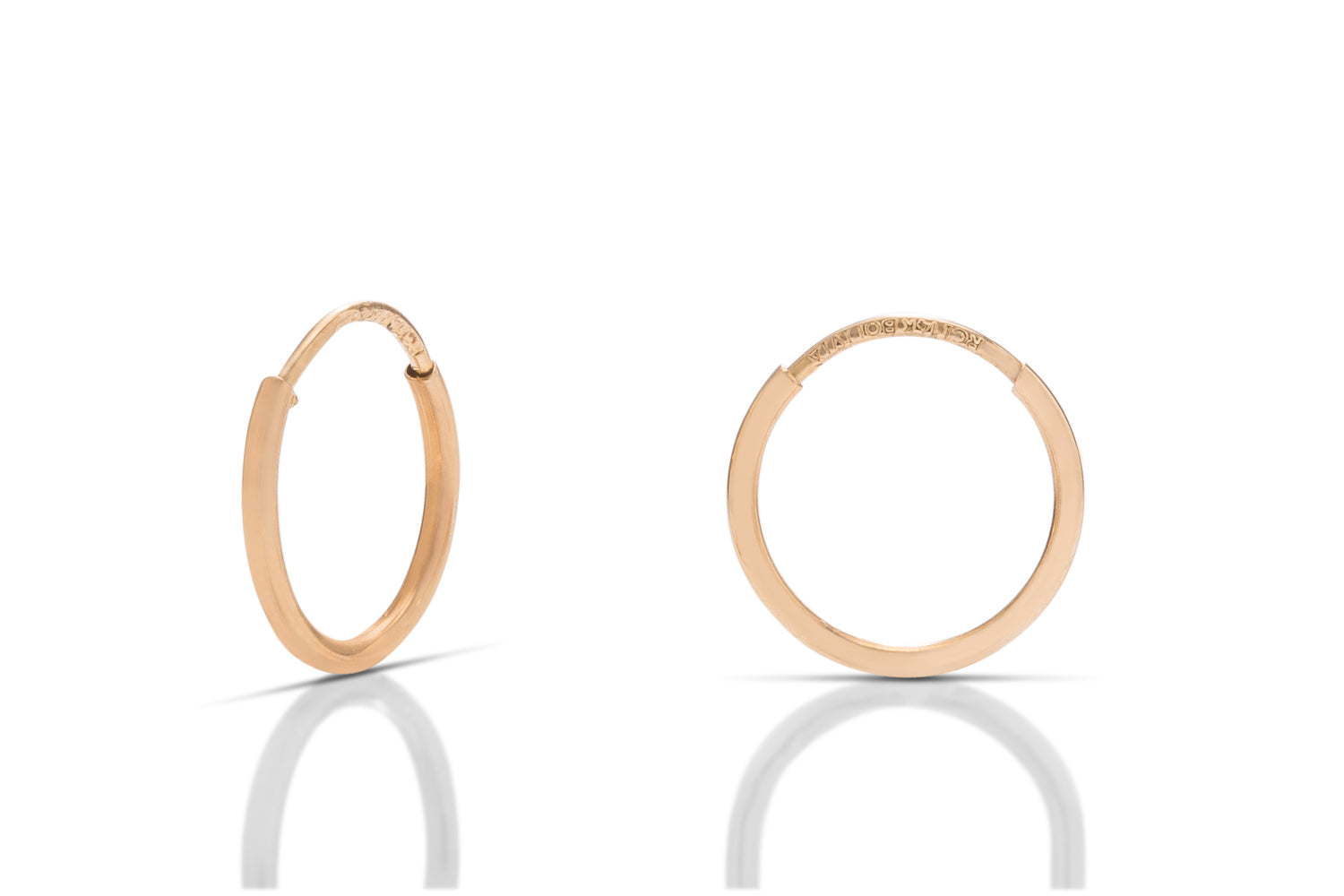 14k Gold Hoop Earrings - Charles Koll Jewellers