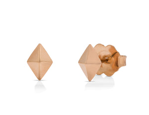 Rose Gold Diamond Shape Studs - Charles Koll Jewellers