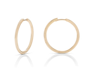 1 Inch Yellow Gold Hoops - Charles Koll Jewellers