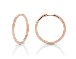 1 Inch Rose Gold Hoops - Charles Koll Jewellers