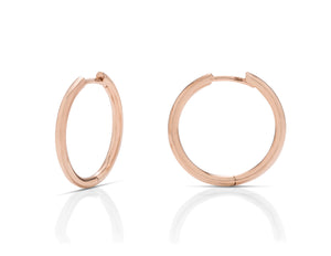 3/4 Inch Rose Gold Hoops - Charles Koll Jewellers