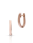 18K Rose Gold Huggie Earrings - Charles Koll Jewellers
