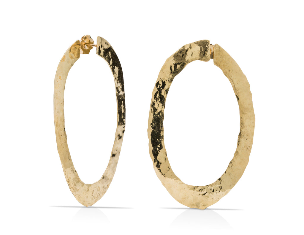 Rough 6.1g Gold Earrings
