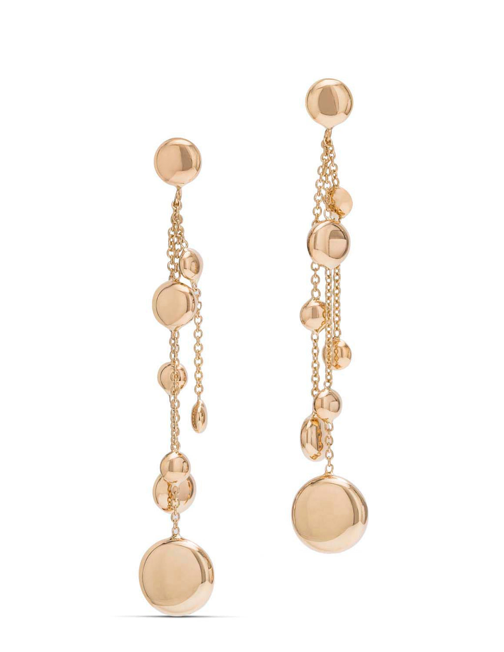 Yellow Gold Rain Drop Earrings - Charles Koll Jewellers