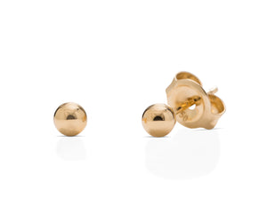 3mm 18K Gold Ball Stud - Charles Koll Jewellers