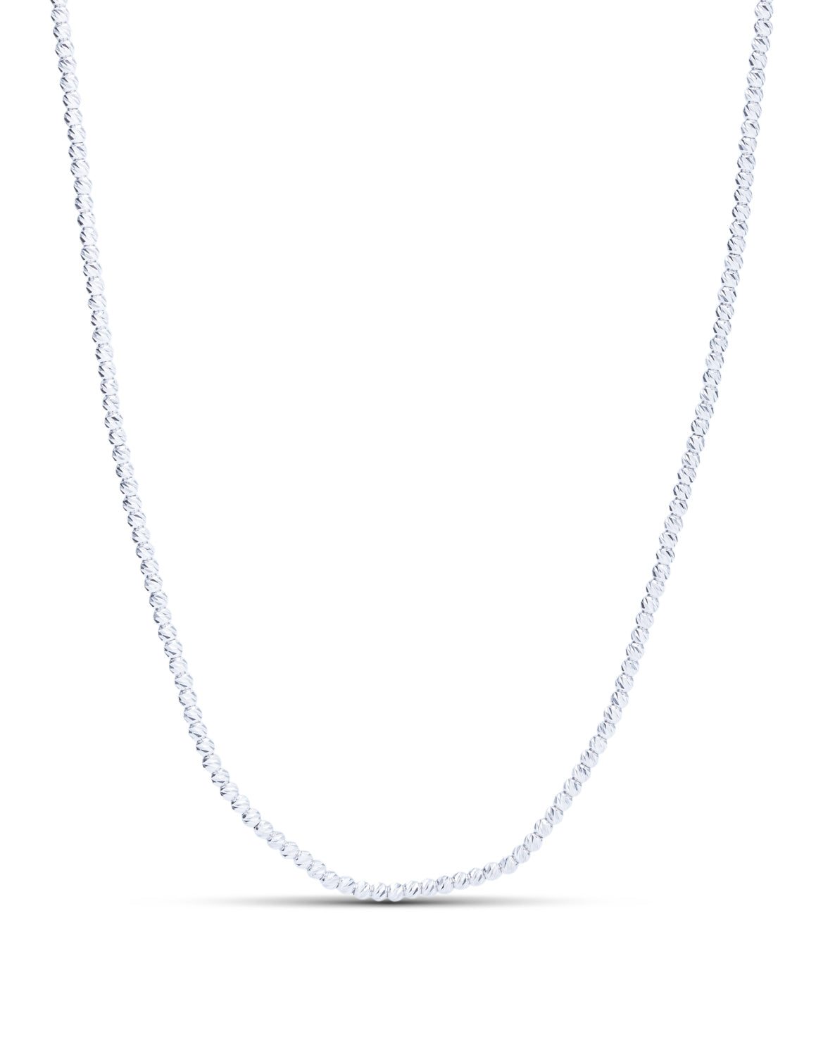 "18"" Diamond Cut Bead Necklace - Charles Koll Jewellers"