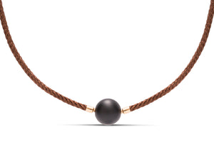 Brown Stainless Steel Twisted Cable Necklace - Charles Koll Jewellers