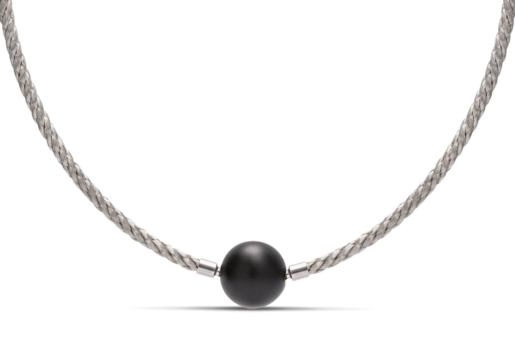 Gray Stainless Steel Twisted Cable Necklace - Charles Koll Jewellers